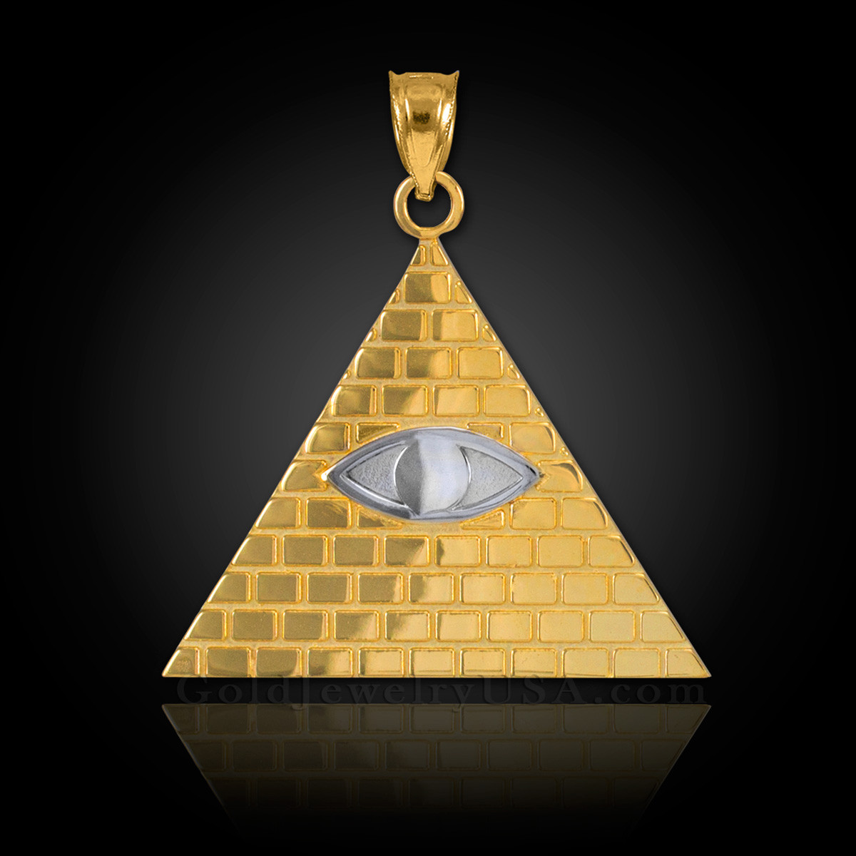Gold Illuminati Pyramid All Seeing Eye Pendant Ebay