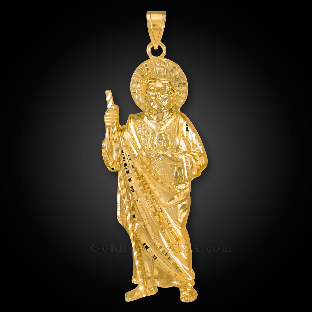0001cccca06 Large Gold St. Jude Pendant