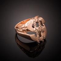 Rose Gold Dollar Sign Nugget Ring