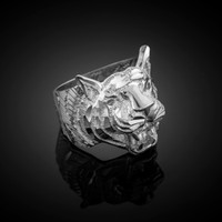 White Gold Tiger Ring