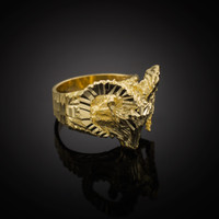 Gold Mountain Ram Ring