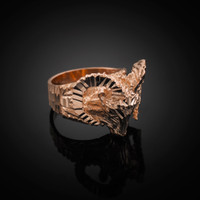 Rose Gold Mountain Ram Ring