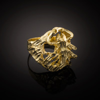 Gold Scorpion Diamond Cut Ring