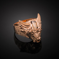 Rose Gold Bull Taurus Ring