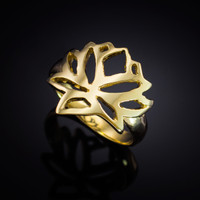 Gold Lotus Flower Ring