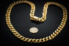 Men's Solid Gold Cuban Chain