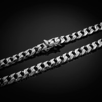White Gold Men's Cuban Chain