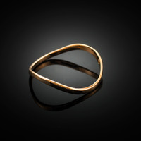 Rose Gold Wavy Thumb Ring