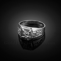 Men's White Gold Eagle Ring