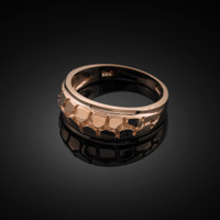 Rose Gold Nugget Wedding Band