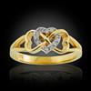 Gold Infinity Heart Diamond Ring