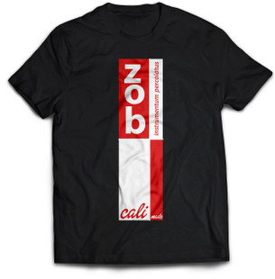 Zob Stacked T-shirt Red on Black
