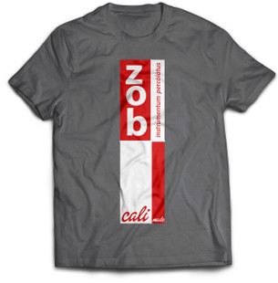 Zob Stacked T-shirt Red on Grey
