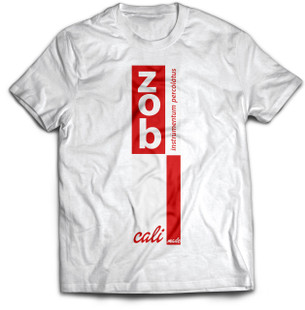 Zob Stacked T-shirt Red on White