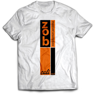 Zob Stacked T-shirt Orange on White