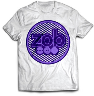 Zob Stripes T-shirt Purple on White