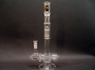18 inch Zob Inline Straight Tube with 8 arm Tree Percolator-Image 1