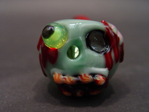 4 inch Chameleon Glass Pipe- Zombie-Image 1