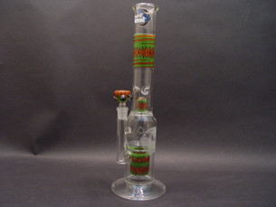 18 inch HVY Custom Worked Stemless Straight Tube Water Pipe with Can Perc-Image 1