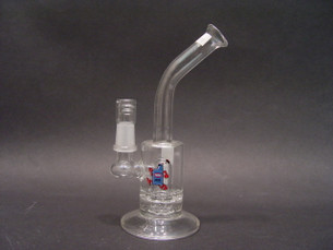 7 inch SYN Bubbler with Ratchet Perc and Glass Nail with Dome-Image 1
