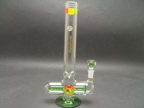 12 inch illadelph Mini Inline Rasta Water Pipe-Image 1