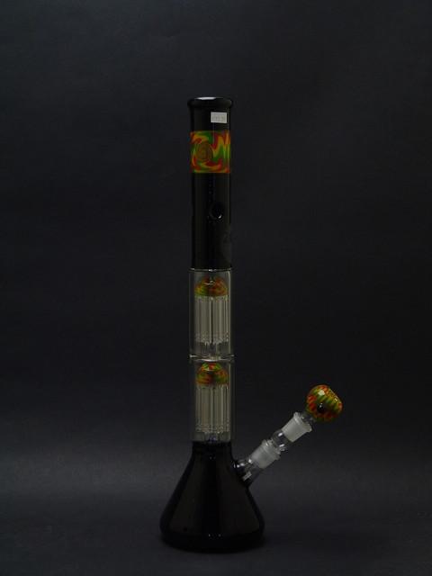 18 inch Double Tree Percolated Custom Zob Beaker Bottom-Image 1