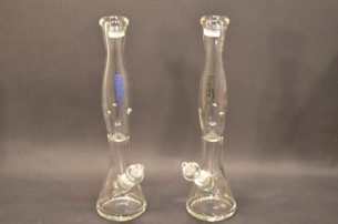 18 in. Helix Beaker Water Pipe