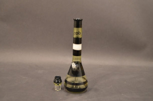 9 in. KJ Custom Zob Princess Beaker with Fixed Down Stem