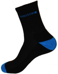 Prosok Bamboo Crew Sock H16 Heavy Weight Black Blue