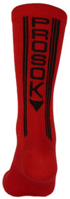 Prosok Bamboo Crew Sock R1 Ultra Thin Race Red Black L/XL