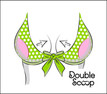 Double Scoop enhances cleavage and provides lift.  Specially designed for larger cup sizes including D, DD, DDD, E ,F, G. Works great with your swimsuit or bra. Full Figures and Plus sizes always welcomed. Double Scoop helps your curves defy gravity and time.