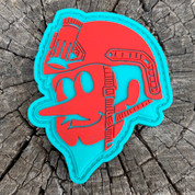 Duke City Operator Turquoise and Red PVC patch