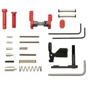 Armaspec Lower Parts Kit Red for AR-15 Platform