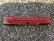 "Strike rail  Red 15.5"" M-lok"