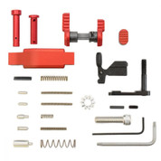 Armaspec Lower Parts Kit Red+ Trigger Guard for AR-15 Platform