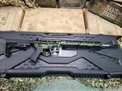 F-1 Firearms UDR-15 .223 Wylde Black With Green Splash Finish