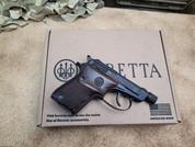 Beretta Bobcat Covert 21A 22LR in Black with Walnut Grips. Threaded barrel