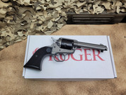 Ruger Wrangler in Silver Cerakote .22LR, 02003