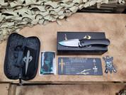 Marfione Custom Knives, SBDP, Hand Polished Satin Finish
