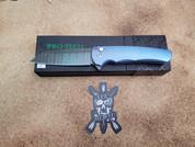 Pro-Tech Malibu Flipper Blue Titanium Custom
