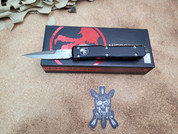 Microtech Ultratech Bayonet, Partially Serrated, Stonewashed,