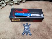 Microtech Blue UTX-70 Single Edge Stonewash Blade