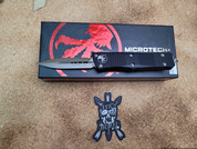 Microtech Troodon Double Edge Stonewashed