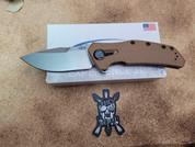 ZT Knives 0308 KVT Folding Knife with FDE G10