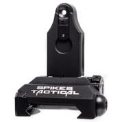 Spikes Tactical Rear Folding Micro Sight Gen 2, Black