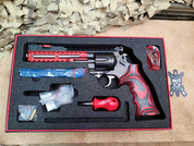 Nighthawk Korth Super Sport ULX .357 Magnum Revolver, Red and DLC Black