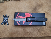 Microtech Ultratech Tanto Standard with partial serration.