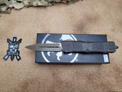 Microtech Signature Series Double Edge Combat Troodon, Bronzed, Carbon Fiber