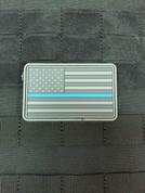 Ten-82 Thin Blue Line Flag Morale Patch