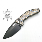Heretic Knives Martyr Auto-Ti Handle/lightning strike cf button